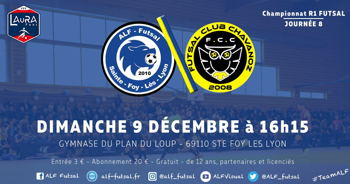 Régionale 1 Futsal Rhône Alpes Journé 8 ALF Futsal