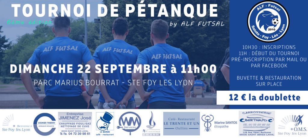 ALF Futsal - tournoi de pétanque 22 septembre 2019