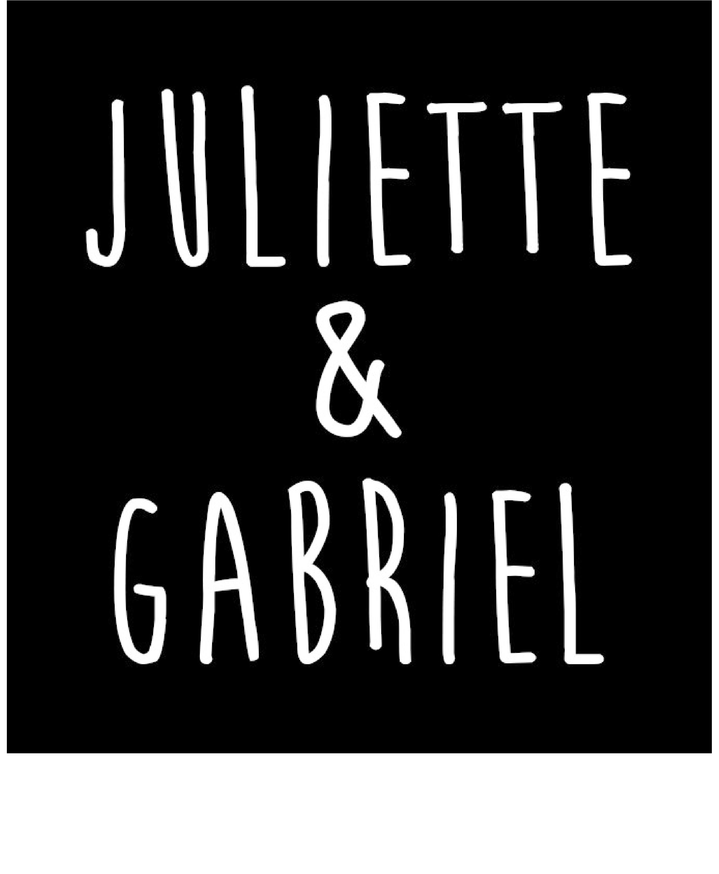 Logo Maillot EQUIPE 1 + slogan blanc_Juliette & Gabriel